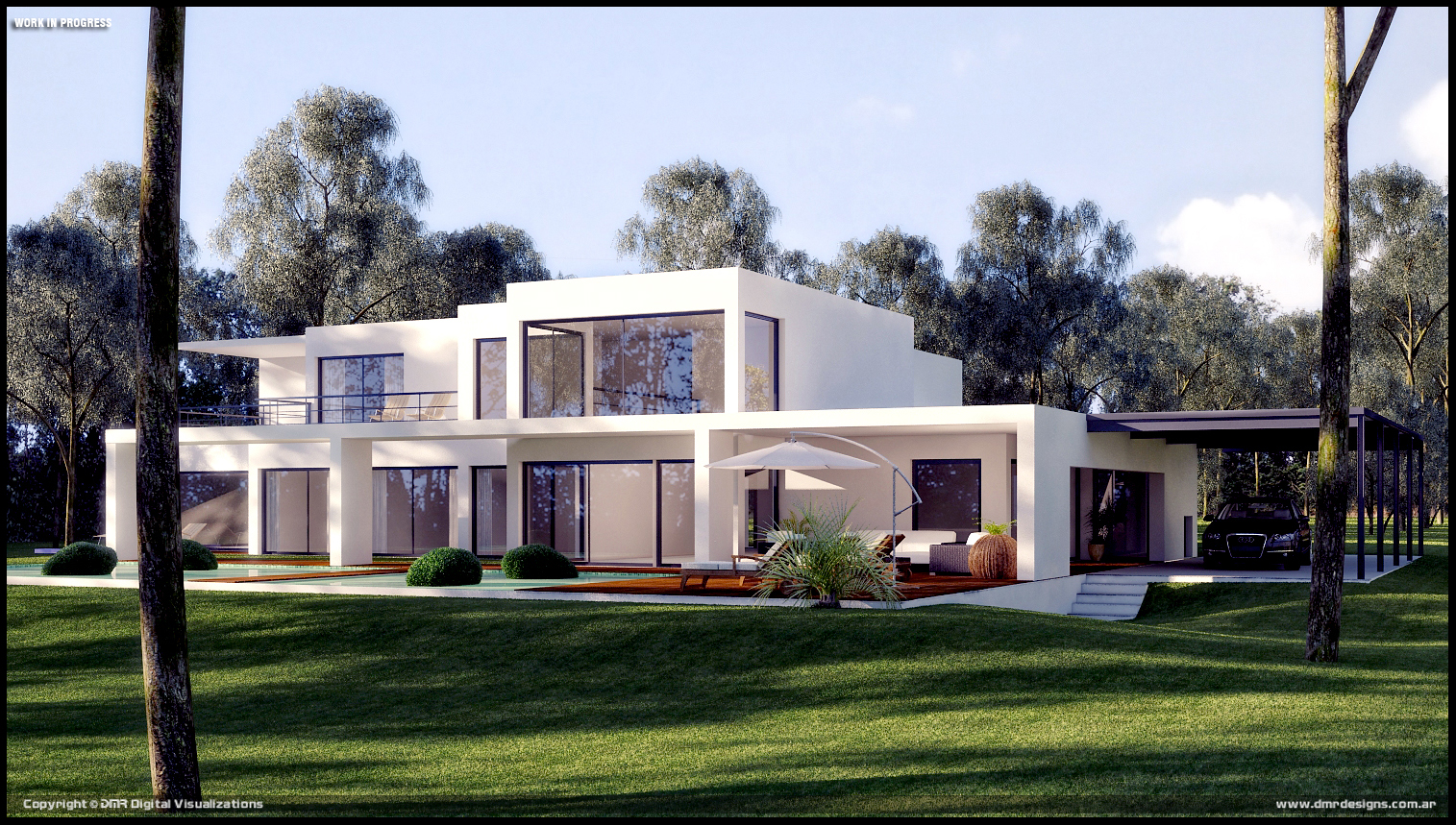 Modern house wip by diegoreales on deviantart for Modern house concept