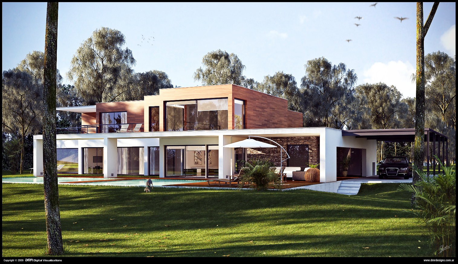 Modern house wip 2 by diegoreales on deviantart for Modern a frame house