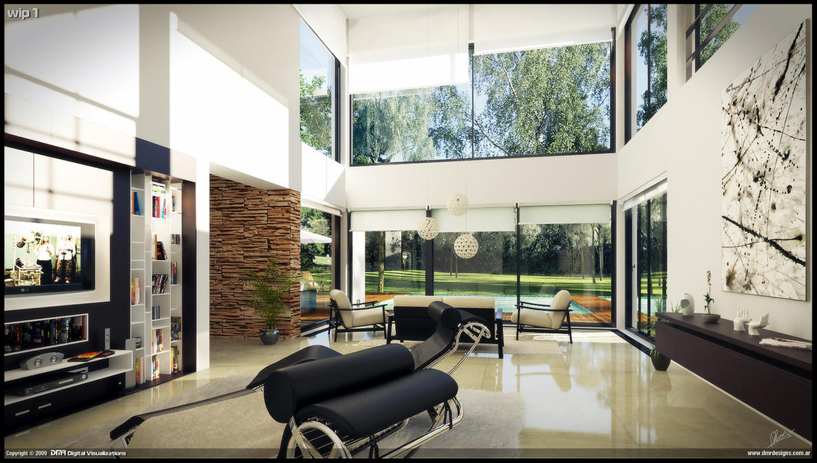 Modern house interior wip 1 by diegoreales on deviantart for I need an interior design for my home