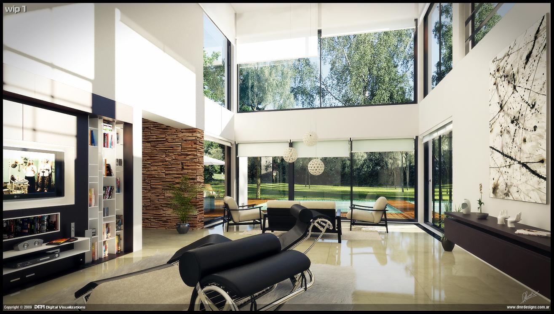 Modern House Interior Wip 1