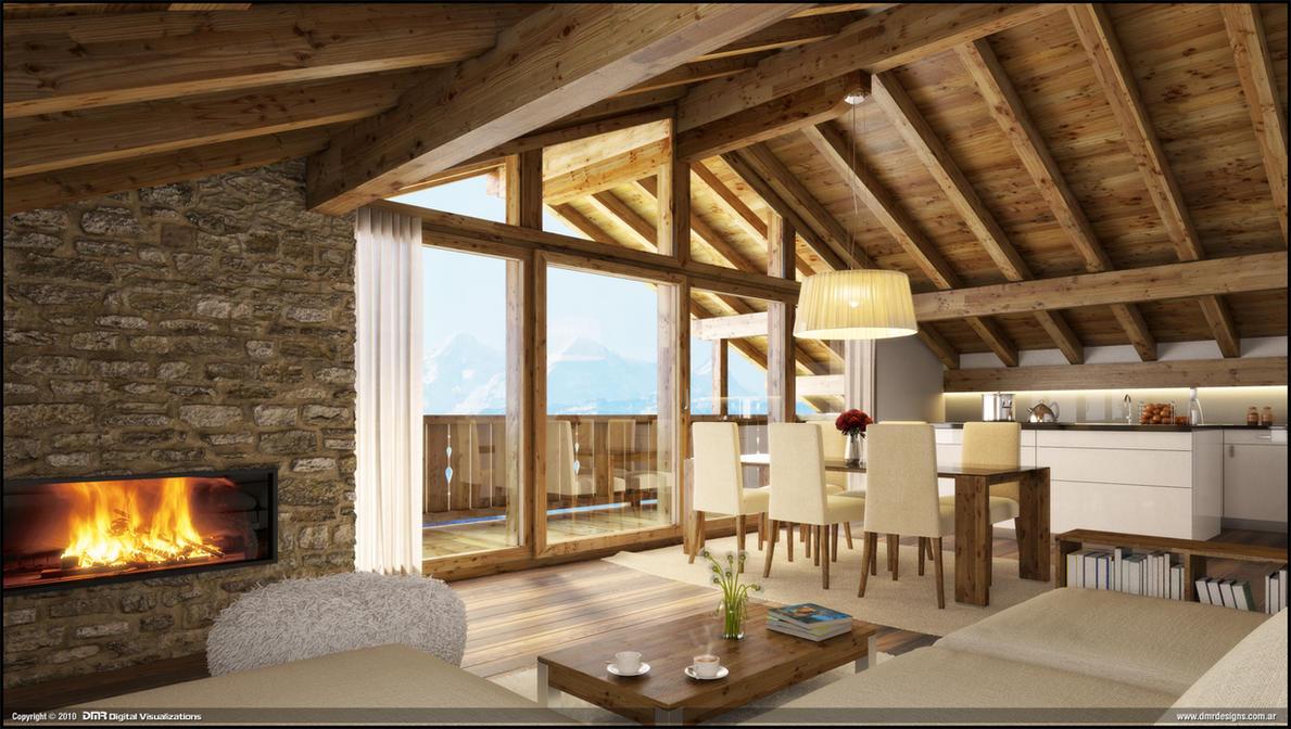 wood house interior by diegoreales on deviantart. Black Bedroom Furniture Sets. Home Design Ideas