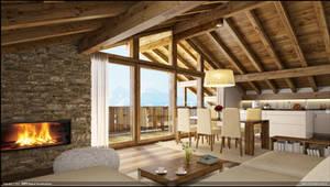 Wood House Interior
