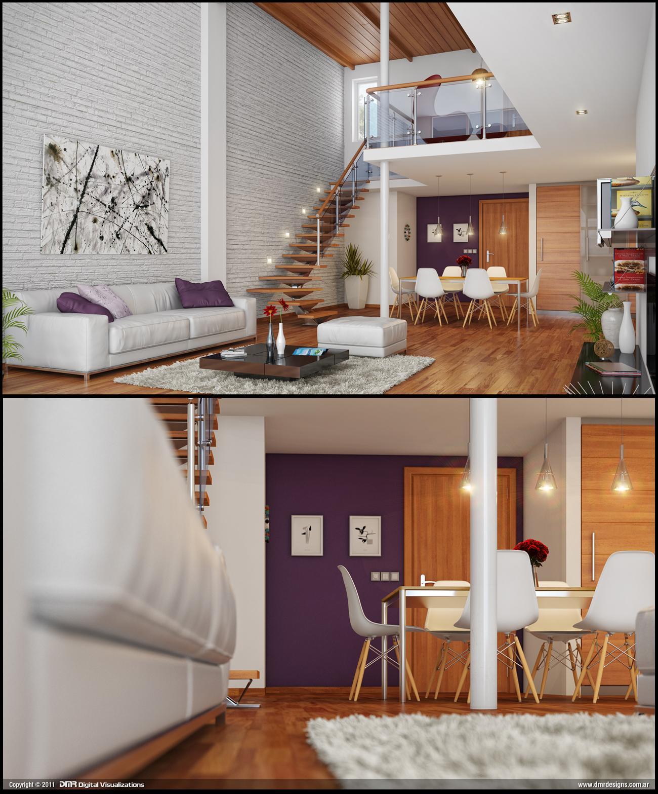 Modern interior by diegoreales on deviantart - Casa tipo loft ...