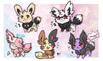 [CLOSED] Auction: Eevee madness! by AriX72
