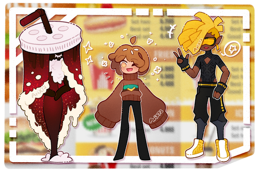 [OPEN 2/3] Fast food themed adopts #8