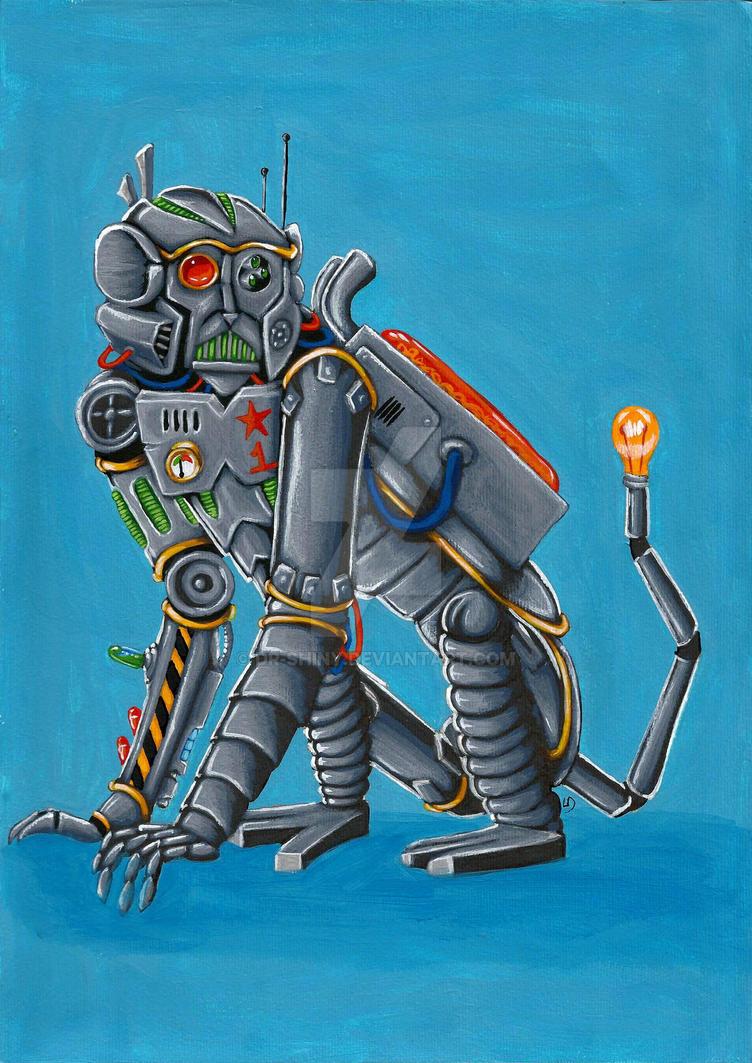 Robot Monkey by Dr-Shiny