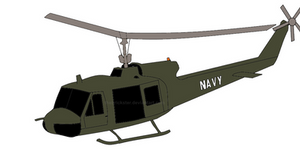 UH-1 Huey by TheBrickster