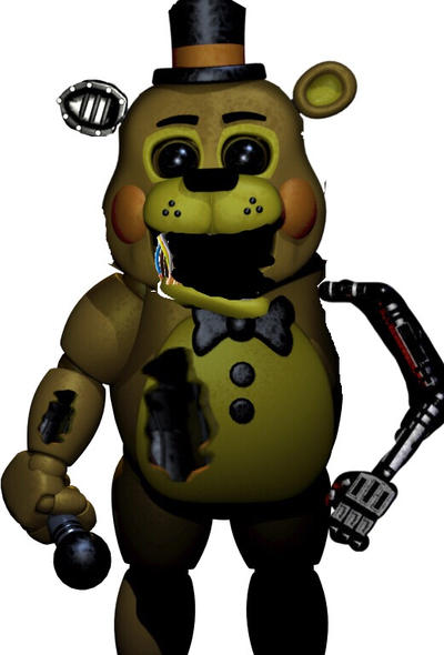 Gold Freddy Toys : Withered golden toy freddy by benthehybrid on deviantart