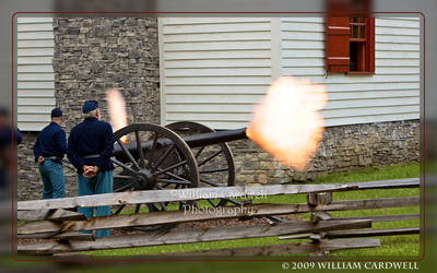 Cannon Blast on Fort Hill
