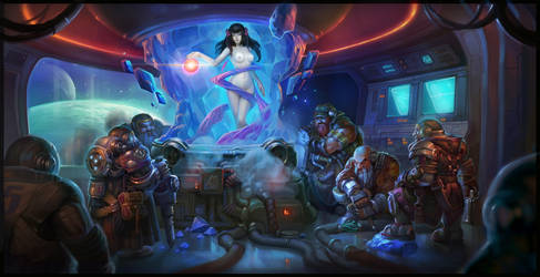 Snow White and the Seven Dwarfs space opera by Niconoff
