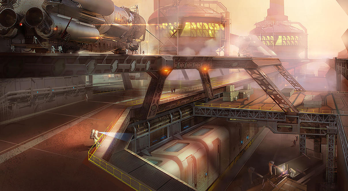 Mars colony by Niconoff