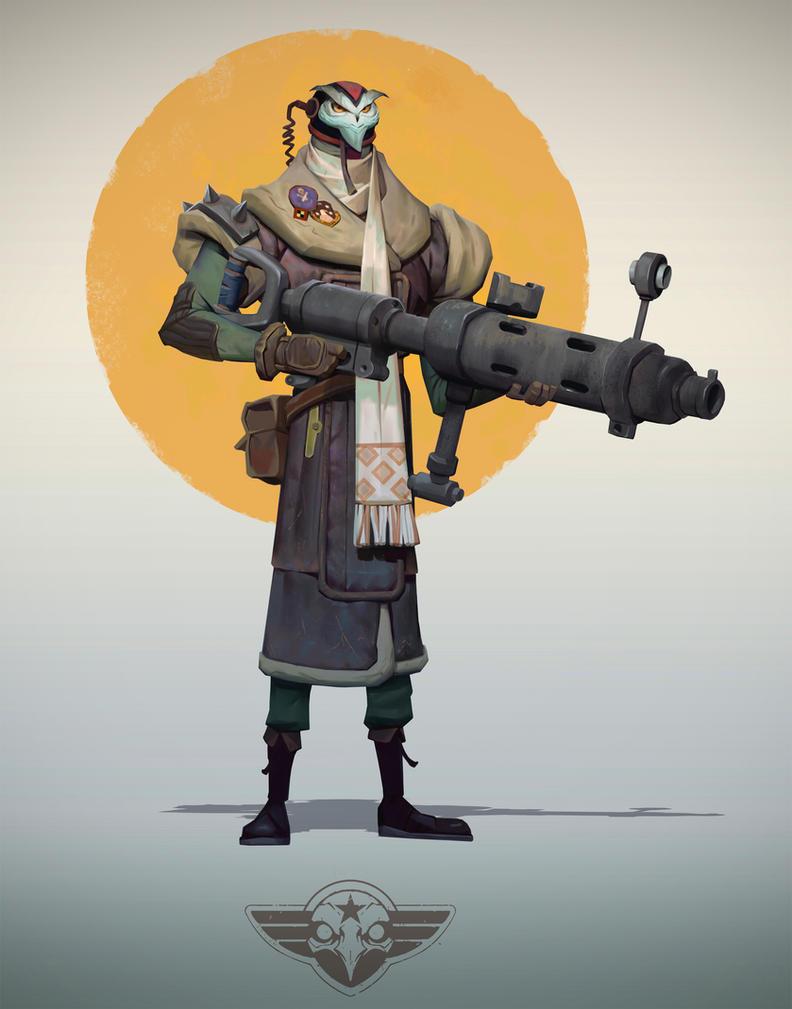 Owl Gunner by Niconoff