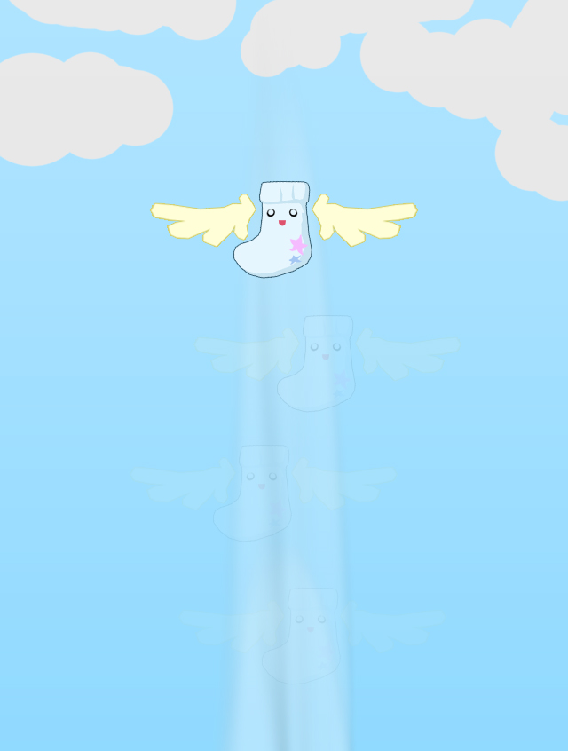 Fly to the Clouds Little Sock by octobomb