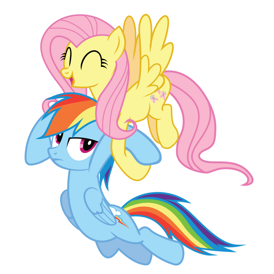 Dash and Fluttershy by Really-unimportant
