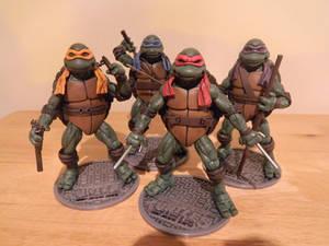 TMNT Custom 1990 movie figures