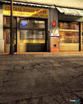 Render Exterior Scene: Central Kebab House
