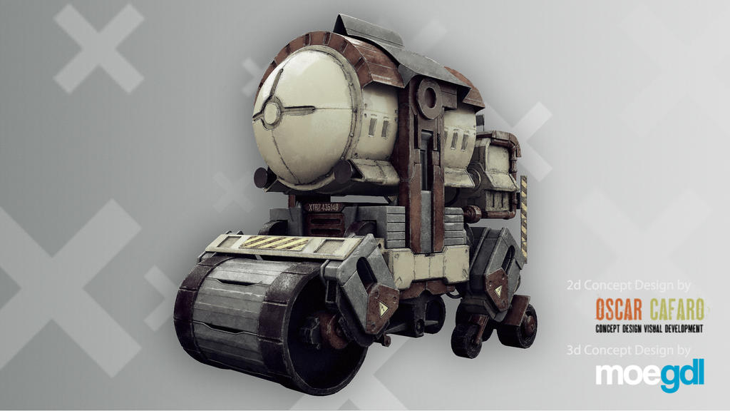 Breakdown 'Mecha' (2d Concept by Oscar Cafaro)