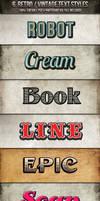 Vintage-Retro Text Styles by nexion218
