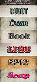 Vintage-Retro Text Styles