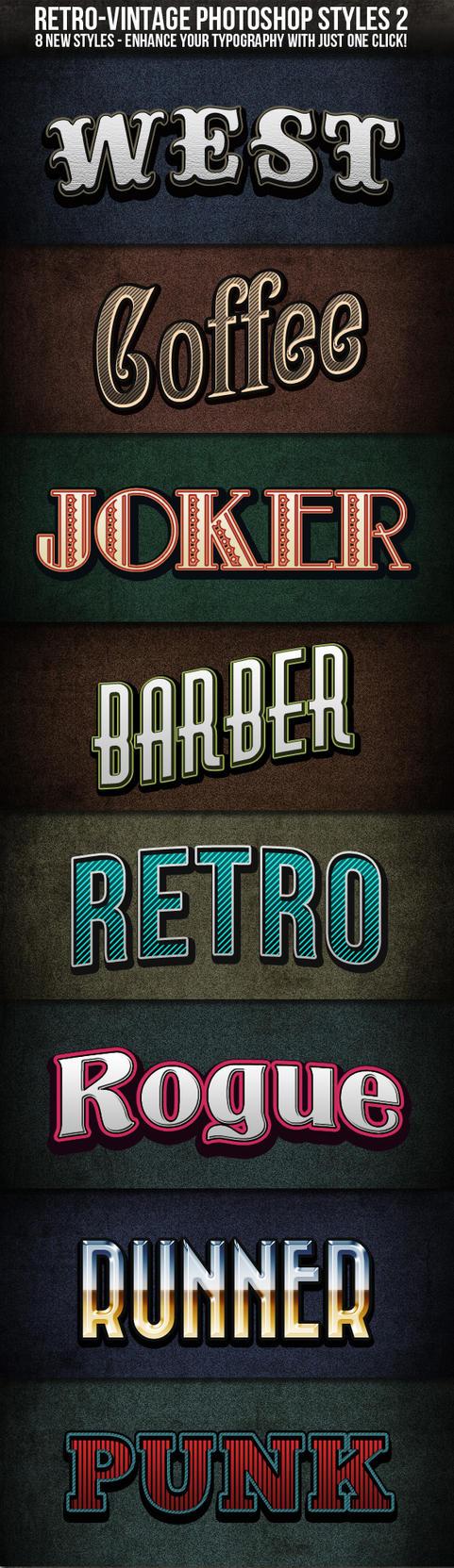 Retro-Vintage Text Styles 2 by nexion218