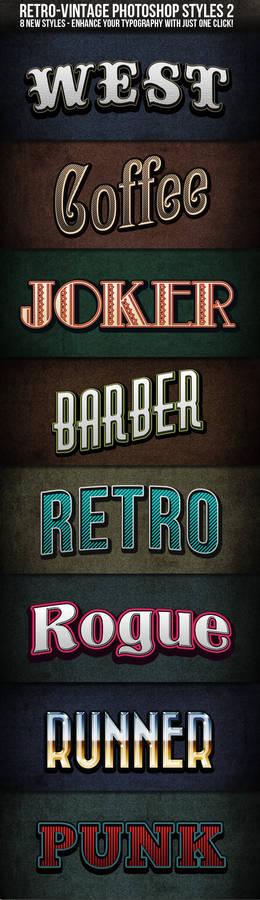 Retro-Vintage Text Styles 2