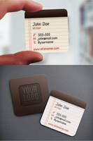 Notepad Iconic Business Card by nexion218