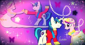 Princess Cadence and Shining Armor love wallpaper