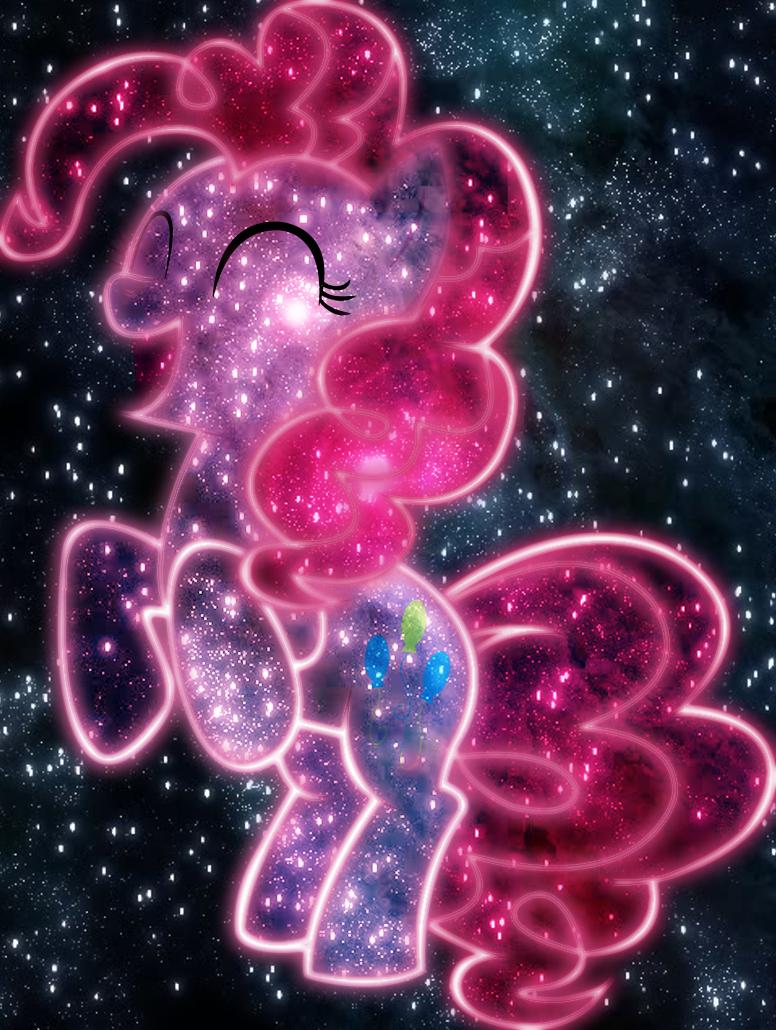 Yay, cosmic Pinkie Pie by AmazingPony