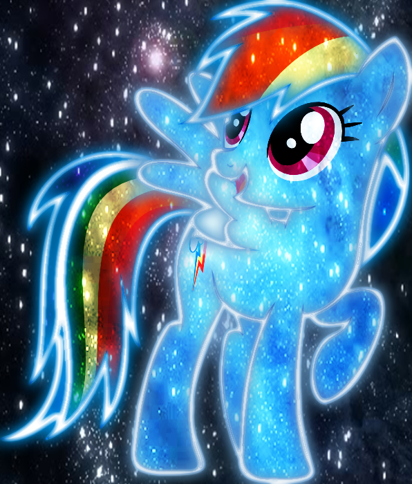 Cosmic rainbow dash 2 by AmazingPony