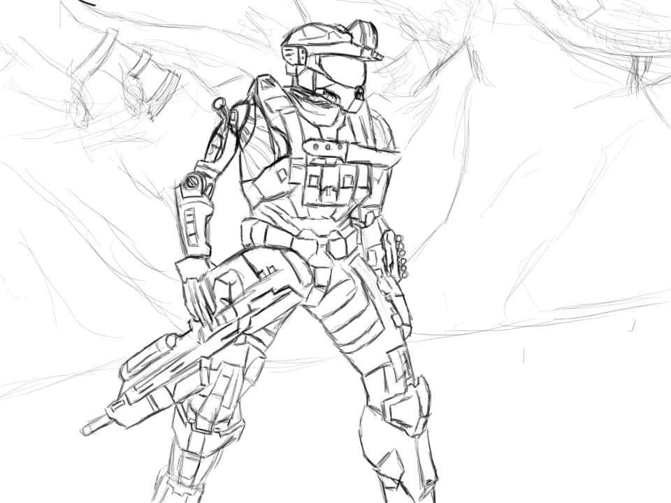 How To Draw Halo Reach Characters