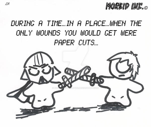 Morbid Inc.2 - Paper Sabers by 8darkened8eclipse8