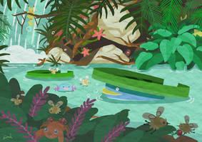 Jungle Stream by SnackyBoy
