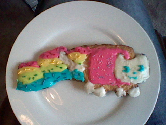 Nyan Cat Cookie by Aria-Melodie