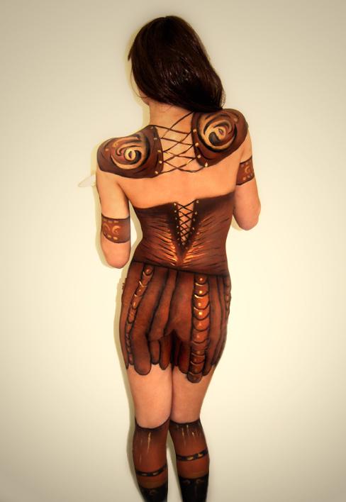Orange Body Paint The Warrior ii Body Painting