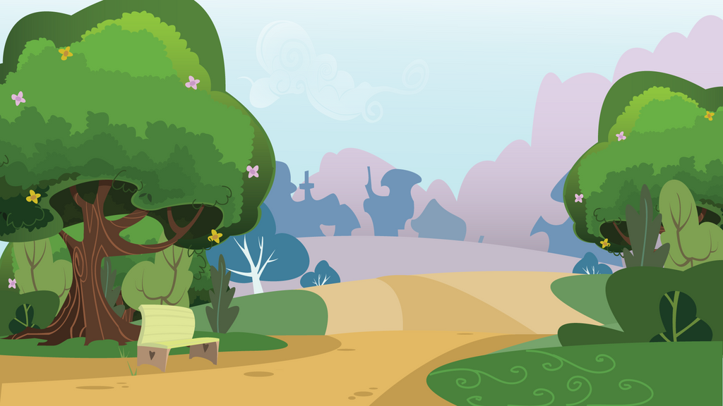 park daytime background by CreativPony