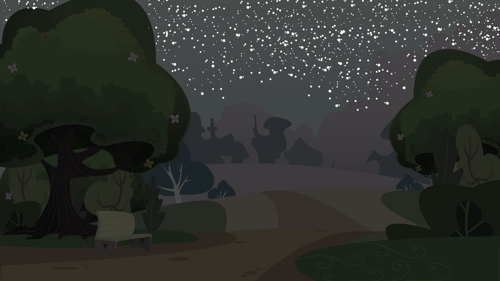 Park nighttime background by CreativPony