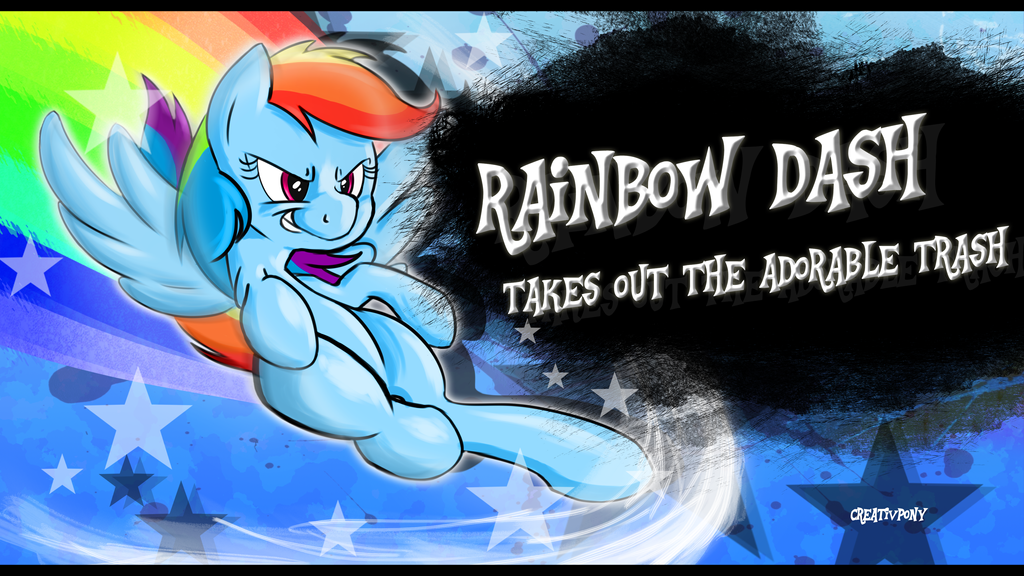Rainbow Dash Takes Out The Adorable Trash! SSB4 by CreativPony