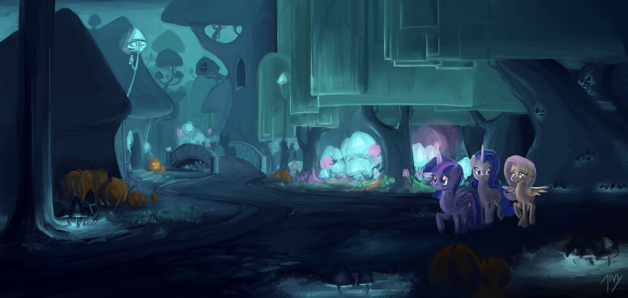 Nightmare Night in Hallow Shades by CreativPony