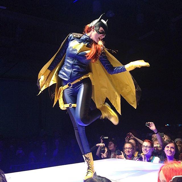 Batgirl on stage by dragonanjo