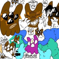 Mr. Demon doodles