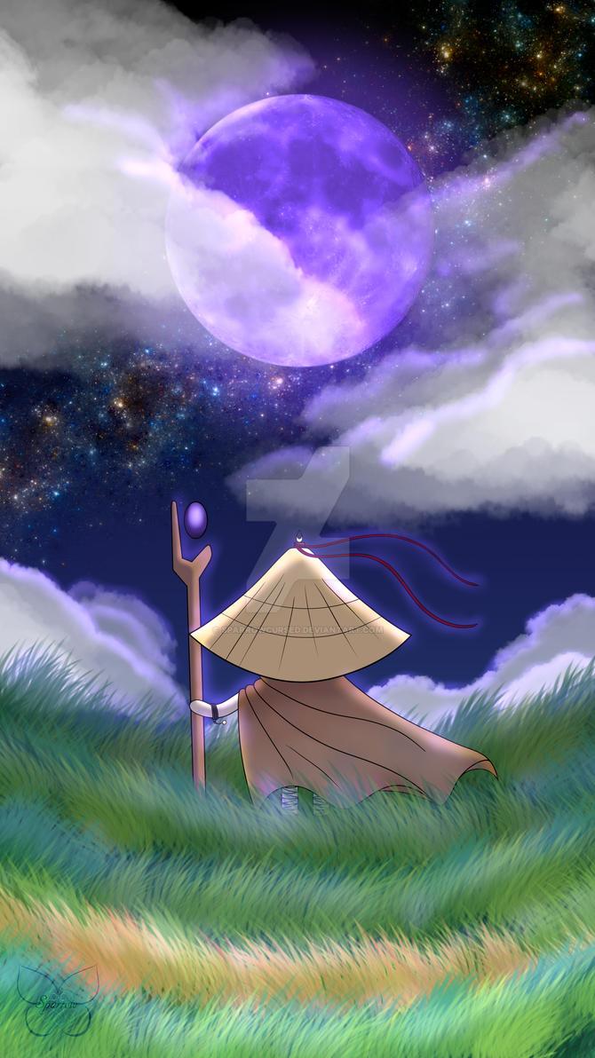 Lune mauve, nouveau depart by SparrowCursed