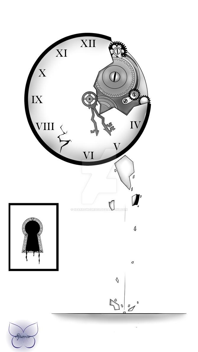 Tatoo Horloge by SparrowCursed