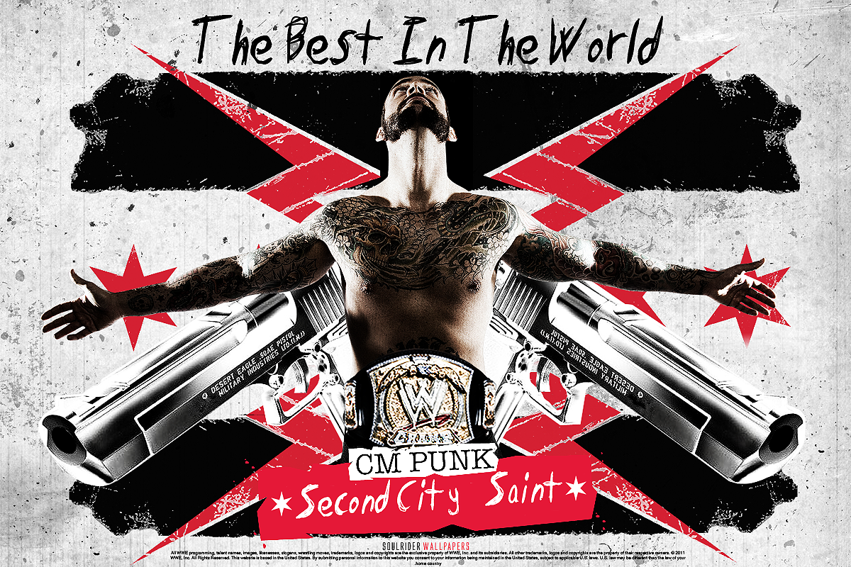 CM Punk Best In The World Wallpaper by SoulRiderGFX