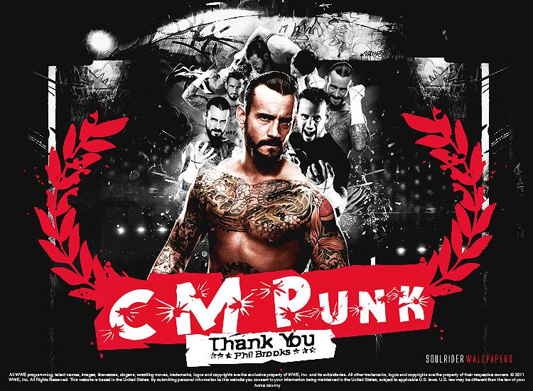 CM Punk Thank You Wallpaper by SoulRiderGFX