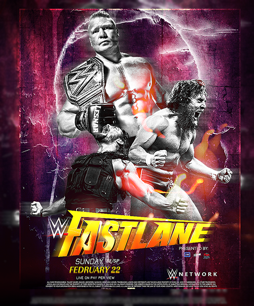 WWE Fast Lane Poster by SoulRiderGFX