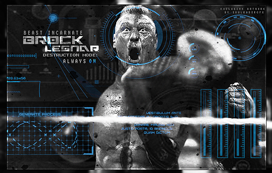 Brock Lesnar Signature 2015 by SoulRiderGFX