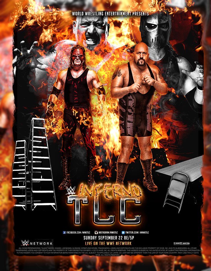 WWE TLC Kane Vs Big Show PPV Poster V2 by SoulRiderGFX
