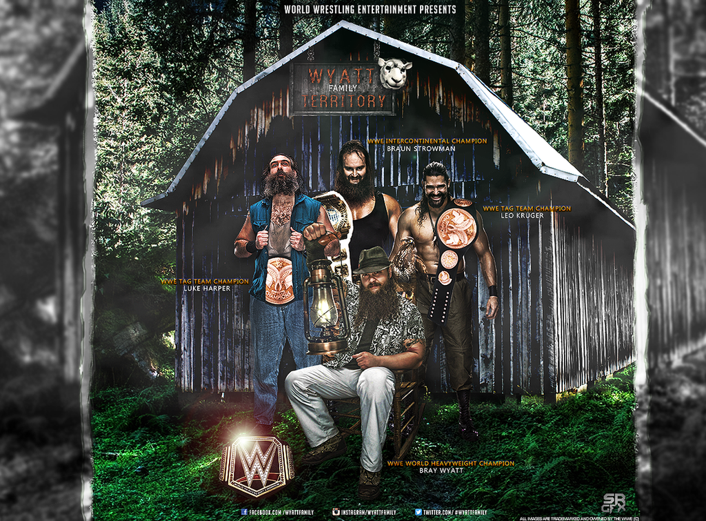 Wwe Wyatt Family Poster by SoulRiderGFX