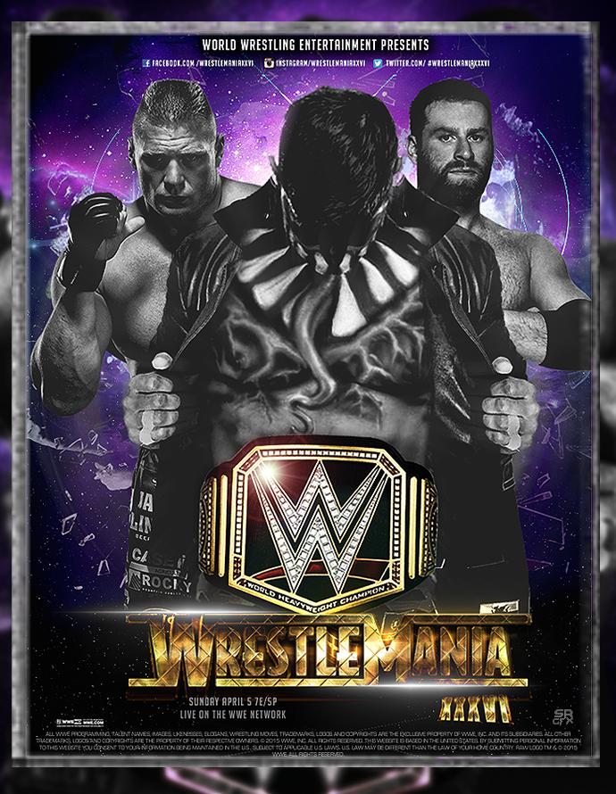 WWE Wrestlemania XXXVI Poster by SoulRiderGFX