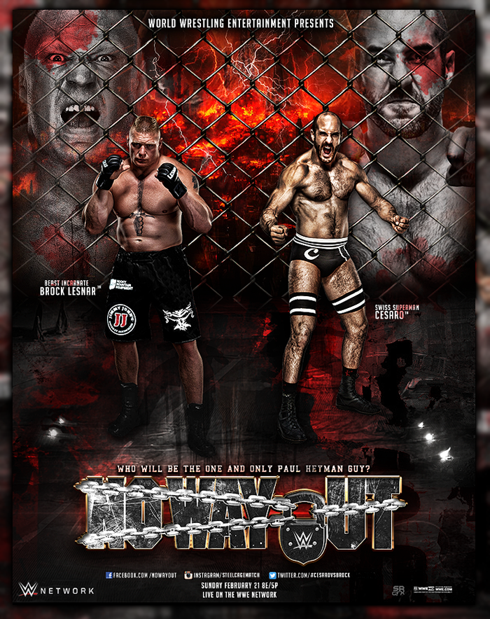 WWE No Way Out  Brock Lesnar Vs Cesaro by SoulRiderGFX